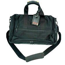 Tumi Black Briefcase Travel Crossbody Bag Nylon Carry On Laptop Organizer