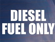 DIESEL FUEL ONLY Warning Sticker/Decal - Ideal for Car/Van/Truck/Boat/Generator