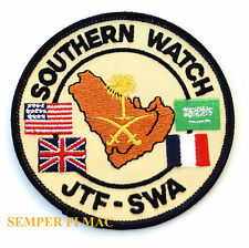 OPERATION SOUTHERN WATCH PATCH JTF SWA PIN UP US ARMY MARINES NAVY AIR FORCE WOW