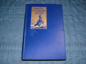 VINTAGE WWII 1939 NAVAL CUSTOMS TRADITION & USAGE BOOK