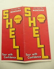 1938 Montana road map  Shell oil