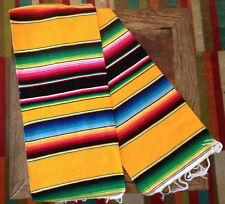"Classic Mexican Sarape Place Mat Table Runner 54""x 22"" Zarape Decor Great Color"