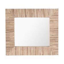 Espejo pared en fibra de bambú blanco y negro