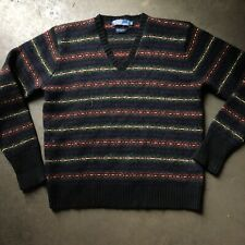 Men's Vintage 90's Polo Ralph Lauren 100% Lambswool V Neck Pullover Sweater Sz M