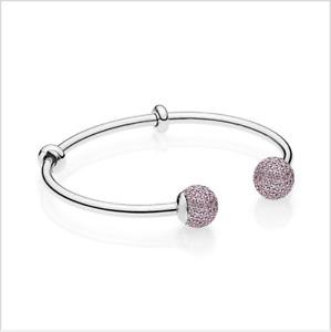 Authentic PANDORA New S925 Silver OPEN BANGLE Bracelet UK  596438CZ