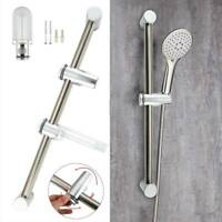 Durable Chrome Shower Kit Adjustable Slider Riser Rail Bar Bracket + Fitting