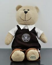 Starbucks Teddy Bear 2016 Apron Plush Stuffed Animal Bearista Brown Apron
