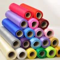 26m x 29cm Organza Sheer Fabric Roll for Wedding Venue Banquet Party Decoration