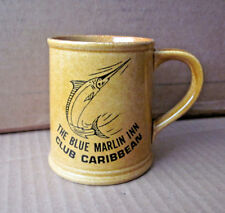 BLUE MARLIN INN coffee mug Club Caribbean 1970s resort Runaway Bay Jamaica