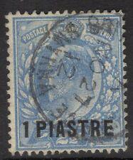 BRITISH LEVANT SG27 1912 1pi on 2½d BRIGHT BLUE USED