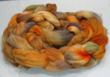 Superwash Wool Combed Top Roving Spinning Handpainted USA NWT Quarry Stone 8.1