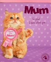 Cute Cat Best Mum Happy Mother's Day Card Cute Range Greeting Cards