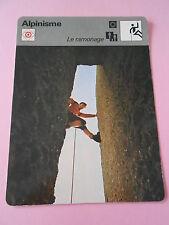 Alpinisme Fiche Le Ramonage exercice périlleux Card 1978