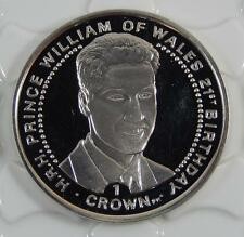 Isle of Man 2003 Sterling Silver 1 One Crown Coin Prince William of Wales  C0407