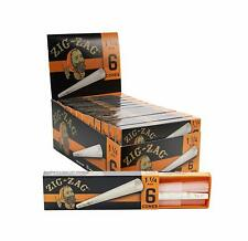 Zig-Zag 1 1/4 1.25 Cones - 6 PACKS - Rolling Pre Rolled Tips 6 Per Pack Zig Zag