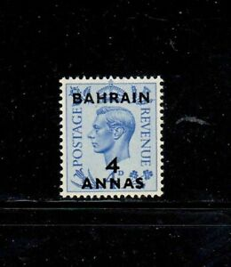 BAHRAIN #77 1950 4a ON 4p KING GEORGE VI MINT VF LH O.G b