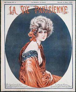 1925 Art Deco La Vie Parisienne magazine risque Maurice Milliere
