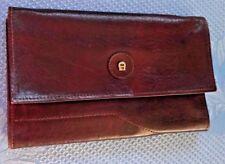 Aigner; Vintage Scheck-oder Reisepass Etui in Echt leder