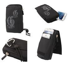 for DORO PHONEEASY 508 Black Pouch Bag 16x9cm Multi-functional Universal