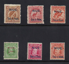 NIUE Sc 10-16 Mint LH CV $77 free shipping