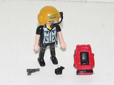 playmobil© Mann Figur Rucksack Helm Mikro 4175 Amphibienfahrzeug mit Deinonychus