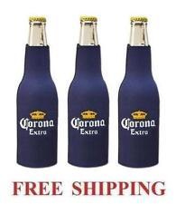 Corona Extra 3 Bottle Huggie Cooler Coozie Coolie Koozie New