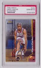 Vince Carter Rookie Card PSA 10 1998-99 Topps Finest #230 w/ coating RC Raptors