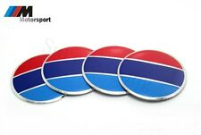 4Pcs ///M Motorsport Aluminum Car Wheel Center Hub Caps Sticker Emblem For M3 M6
