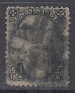 USA Scott #73  2 cent  Andrew Jackson black      **