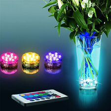 Submersible 10 LED RGB Light Party Vase Underwater Waterproof Lamp Bonzer