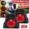 2x 12V 24V 8 LED Side Marker Light Mudguard Towing Lamp Trailer Truck Caravan