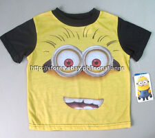70% OFF! AUTH DESPICABLE ME MINION BOY'S GRAPHIC TEE 4T / 3-4 YEARS BNEW $9.95