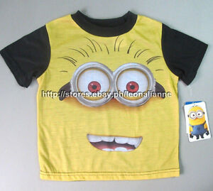 70% OFF! AUTH DESPICABLE ME MINION BOY'S GRAPHIC TEE 2T / 1-2 YRS BNEW US$9.95