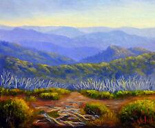 Original Oil painting Australian landscape of Australian Alps by Chris Vidal