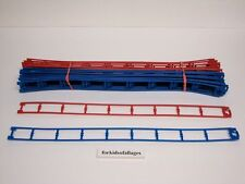 """26 Micro Knex Track Blue & Red 16"""" Straight #50542 Doubleshot Coaster Parts"""