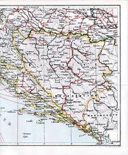 HR BiH Dalmacija Bosna 1910 orig. Karte Fiume Zadar Dubrovnik Sarajevo Banjaluka
