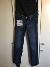 H&M Maternity Over Bump Straight Jeans Size EUR 34 UK 6-8 Leg 31