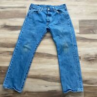 Levi's 501 Distressed Jeans Mens Button Fly 34 x 28 (35x30 tag)