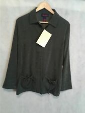 Denim & Co. Washable Suede Zip Front Jacket Medium from QVC