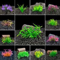 Künstliches Aquarium Plastik Wasser GrasPflanze Aquarium Ornamente Dekor L/P