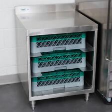 "Regency Stainless Steel Flat Top Glass Rack Storage Unit - 23"" x 24"""
