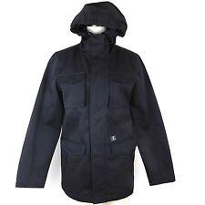 DC Clothing Sz S Mastadon 3 Black Water Resist Hooded Pocket Jacket