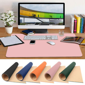 PU Leather Desk Mat Large Computer Keyboard Mouse Pad For Laptop PC Office