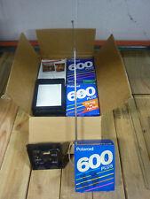 Polaroid 600 Plus Portable AM/FM Radio with over 20 used Film Cartridges