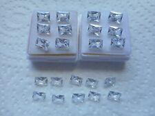 7x5mm rectangular white cubic zirconia stones 2 for £1.