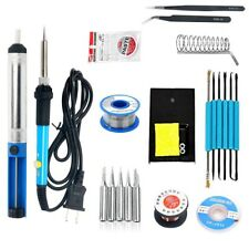 60W 110V Adjustable Temperature Welding Iron - Electric Soldering Iron Kit CA