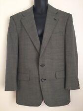 Evan Picone Vintage Glen Check Wool Sports Coat Blazer Jacket 40R Union Made USA