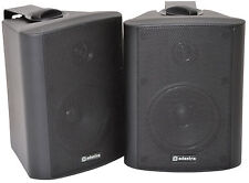 "BLACK Monitors QTX SOUND BC4-B 4"" 70W Stereo Speakers with Brackets  (Pair)"