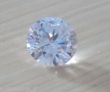 20mm AAAAA White Sapphire Round Shape Faceted Cut 45.86ct VVS Loose Gemstone