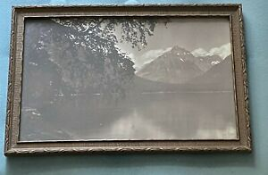 Vintage Hileman Photo Glacier National Park Original Frame Montana